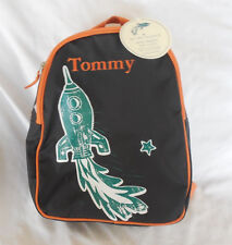 """Pottery barn Kids Rocket My First Backpack Brown """"Tommy"""" New With Tag Pre-K"""