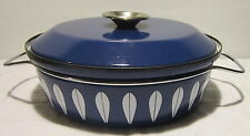 Catherineholm Cobalt Blue and White Lotus Dutch Oven / Casserole