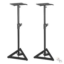 On-Stage SMS6000 Studio Monitor Stands Pair 3-Pt Triangle Base 90lb Capacity