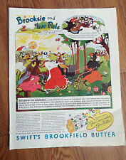1934 Swift's Brookfield Butter Ad Brooksie Camel Cigarettes Ad Mrs Henry Field