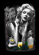 MARILYN MONROE TATTOO CANVAS A1 ICONIC RETRO FINE ART 20 X 30 WALL SHOP COOL