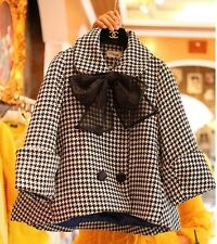 Oversized coat HOUNDSTOOTH wool blend A line swing jacket  plus Size(40-42)7X