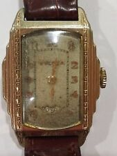 VINTAGE BULOVA PRESIDENT WANDERING SECONDS WATCH – ART DECO STEPPED CASE