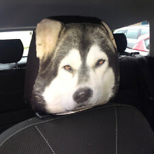 CAR SEAT HEAD REST COVERS PACK OF 2 ALASKAN MALAMUTE DOG MADE IN YORKSHIRE