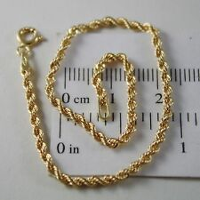 18K YELLOW GOLD BRACELET, BRAID ROPE MESH, 7.30 INCH LONG, MADE IN ITALY