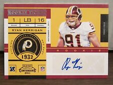 2011 Contenders Ryan Kerrigan Rookie Ticket Auto        Redskins RC Autograph b