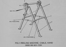 Hand cable reeling machine.Code No.14334.Illustrated parts catalogue.