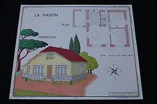 V247 Affiche scolaire papier Rossignol 1 MAISON 2 MENUISERIE EXTERIEURE plan