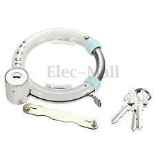 Vintage Bike Bicycle Lock Pad Lock Circular Lock Wheel Lock Set Iron White 2 Key