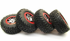 Slayer PRO 4x4 14 mm Red TIRES wheels Glued Factory Set of 4 TYRES Traxxas 59074