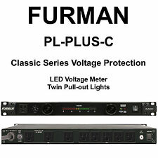 FURMAN PL-PLUS-C 15A Dual Light LED Voltmeter Surge Protection Power Conditioner