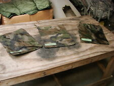 "**Lot of 3 US Military Poncho 10"" x 12"" Camo Water Proof Storage Bag/Pouch"
