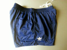 ADIDAS running football BLUE shorts shiny glanz nylon retro vintage size S NEW