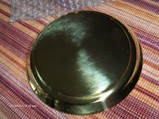 "NEW BLANK ANNIVERSARY CLOCK or DISPLAY BRASS PLATED BASE FOR 5.5"" WIDE DOME"