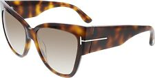 Tom Ford Women's Gradient Anoushka FT0371-53F-57 Tortoiseshell Cat Eye Sunglasse