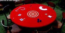 """VELVET Poker Table cover - best felt tablecloth upgrade FOR  60"""" ROUND"""