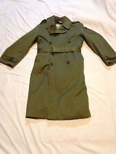 RARE WW2 Korean War US ARMY Officer Trench Coat US Military Jacket Uniform-M