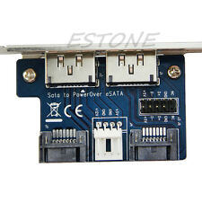 Dual Port SATA to Double Power Over ESATA 12V+5V Convert Adapter Expansion Card