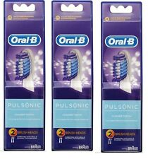 6x Oral-B Pulsonic Electric Toothbrush Replacement Spare Brush Heads Teeth Tooth