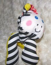 VINTAGE FISHER PRICE GRAB EMS STUFFED PLUSH CLOTH 1990 ZEBRA RATTLE BABY TOY