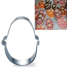1 Pc Stainless Baby Shoes Cookie Fondant Clay Cutter