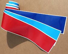 BMW M sport style colour stripe sticker decal 75mm  E30 E36 E39 E46 E90 M3 M5 Z4