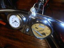 Bicycle speedometer & clock Stewart Warner  Schwinn Columbia  console dashboard