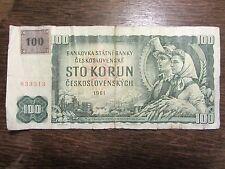 100 CORONE REPUBBLICA CECA 1961 con cedola