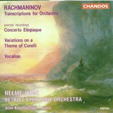 RACHMANINOV: Transcriptions for Orchestra CD, CHANDOS, Like New, N JARVI Detroit