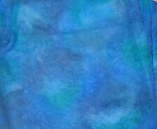 Hand Painted Silk Chiffon Fabric DEEP BLUE 1/4 Yard remnant