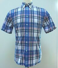 BROOKS Brothers SHIRT Multicolor XL Checked TARTAN Mens SIZE Red FLEECE Cotton**