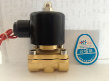 "Electric Solenoid Water Gas Air Valve Contorl Normally Close 3/4"" DN20 DC 12V 2A"
