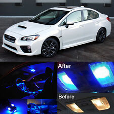 Blue LED Interior Kit + White License Light LED For Subaru Impreza WRX 04-2016