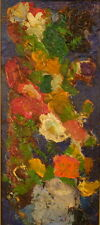 Pierre Ambrogiani - Huile sur panneau Bouquet de Fleurs (v)