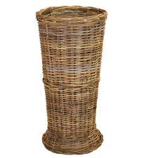 Ombrello GRIGIO Rattan Cesto su misura dai piedi Design CAINI Ombrello Bastone