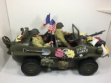 1/6 21ST CENTURY US CAPTURED GERMAN SCHWIMMWAGEN JEEP+2 FIGURES WW2 DRAGON BBI