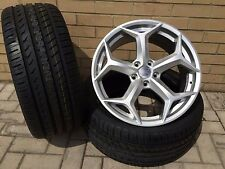 "18"" FORD ST SNOWFLAKE STYLE HYPERSILVER ALLOY WHEELS + TYRES FOCUS MONDEO 5X108"