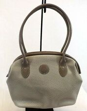 Liz Claiborne Women's Handbag, Taupe Leather Shoulder Bag Purse Medium 1980s VTG