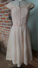 Vintage Peachy / Pink Lace Dress by Scherer & Sons