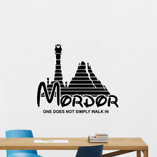 Lord Of The Rings Wall Decal Mordor Quote Poster Vinyl Sticker Home Decor 81quo