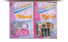 GLORIA DOLL FURNITURE Boxed Play Food  Accessories SET & Utensil Set BARBIE SIZE