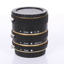 Auto Focus AF Automatic Extension Tube Golden Metal For Kenko Canon EF EF-S Lens