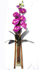 7 Pink Moth Phalaenopsis Orchid Flowers Bamboo Decor