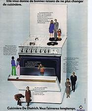 PUBLICITE ADVERTISING 064 1973 DE DIETRICH cuisinière vous l'aimerez longtemps