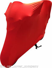 Super Soft Stretch Elasticated Indoor Motor bike Cover Red-Ducati