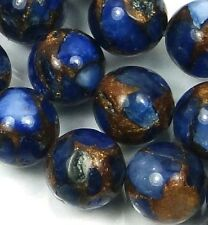 10mm blue Sapphire in Quartz with Pyrite Round Beads (19)