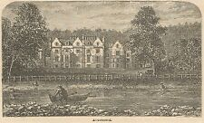 C8001 Scotland - Abbotsford House - Stampa antica - 1892 Engraving