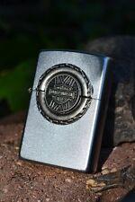 Zippo Lighter - Harley Davidson - Tire Engine Surprise Emblem Model # 205HD H324