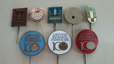 Soviet chess pin badge. Lithuania Republic. Lot of 8