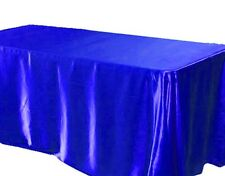 """6 pack 60x120"""" Rectangular Satin Tablecloth Wedding Party SEAMLESS Table Cover"""